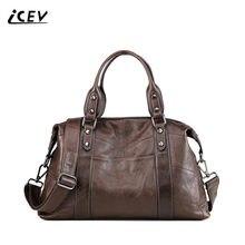 a3e7c5530e30 Icev Новая мода 100% Натуральная кожаные сумочки простые женские Теплые сумки  Высокое качество Для женщин