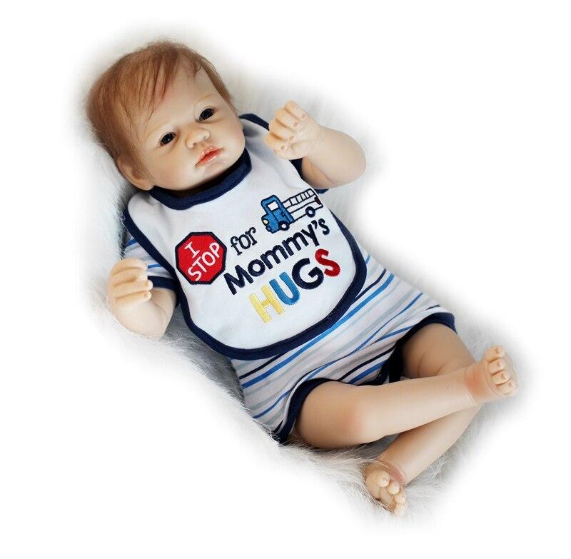 Poupée bébé dollmai 55CM 22 pouces poupée bebes Reborn poupées fille réaliste Silicone Reborn poupée mode garçon fille nouveau-né Reborn bébés - 6