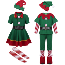 Kids Girls christmas Dress for Girls New Year Festival Santa Clause Costume Kids Fancy Dress Up Party Dresses