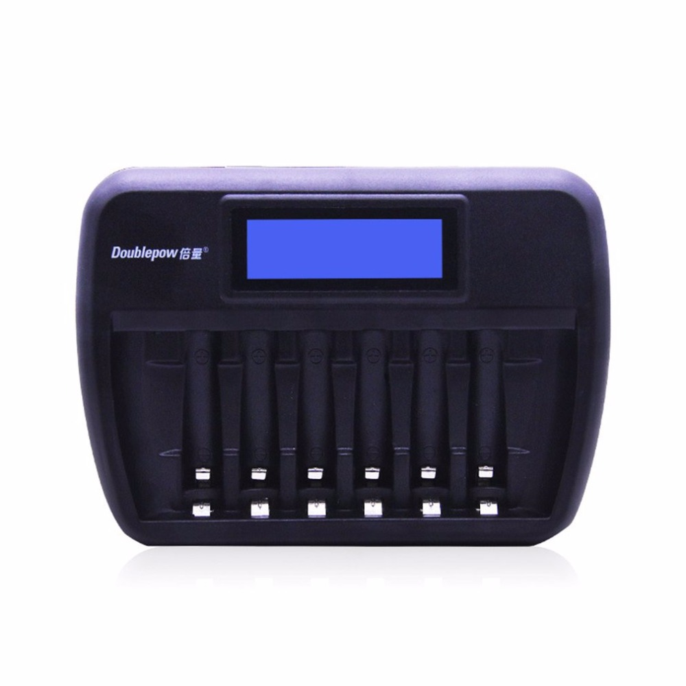 Image 2 - Doublepow Multifunctional Universal 6 Slots LCD AA AAA Rechargebale Battery Charger Automatic Intelligent Rapid Charger-in Chargers from Consumer Electronics