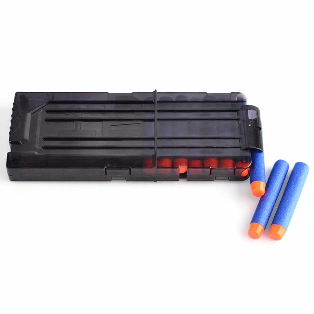12 Reload Clip Voor Nerf Tijdschrift Ronde Darts Vervanging Speelgoed Pistool Zachte Kogel Clip Voor Nerf Blaster arma de brinquedo