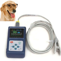 Vet pulse oximeter Handheld Spo2 Monitor Pulsoximeter Blood Oxygen Monitor with Veterinary probe for Amimals Pets USB Software