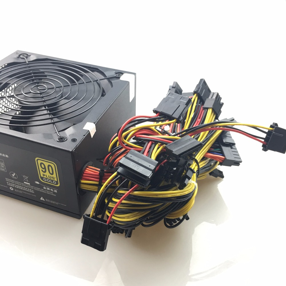 Купить с кэшбэком free ship 1600w psu Power Supply For ATX Mining Machine Support 6 Pieces Graphics Card Computer BTC Mining