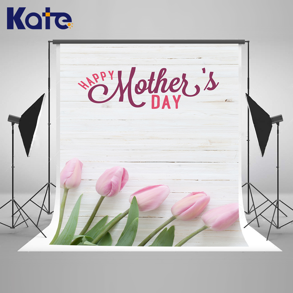 Kate 5X7FT Happy Mothers Day Photography Backdrop Write Wood Wall Photo Background Flowers Photography Props Kids kate happy mothers day photography backdrops white flower wood background spring photography backdropsbaby background