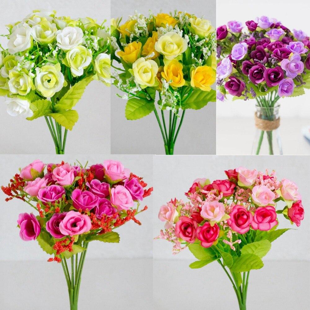 Aliexpress.com : Buy Silk Flower Wedding Bouquet Roses