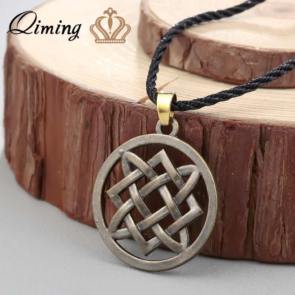 QIMING 2017 Lada Star Necklace Men Slavic Jewelry Necklace Slavic Amulet Women Necklace Amulet American Vintage Necklace