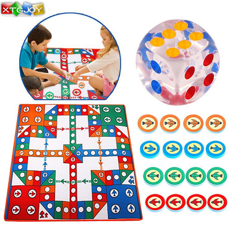 1Pcs 82*82CM Baby Crawling kids Play Mats Flying Chess carpet Camping Floor Mat Crawling Game For Children toys tool ...