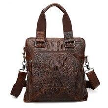 Maxdo Alligator Pattern Vintage Real Skin Genuine Leather Men Messenger Bags Man Briefcase Portfolio #M9908