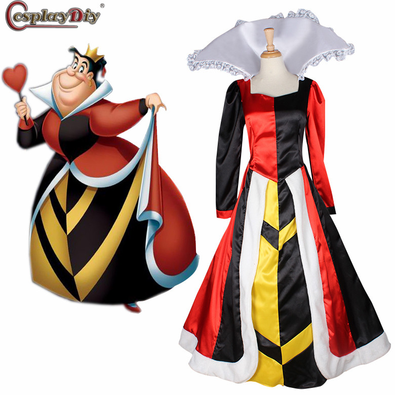 Cosplaydiy Alice In Wonderland The Red Queen Costume Dress Adult Women Halloween Party Cosplay Outfits Custom Made
