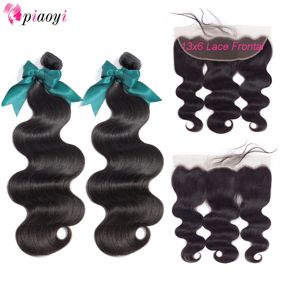 Brazilian Body Wave Remy Human Hair Bundles With Frontal Closure 13x6 Lace Frontal Closure With Bundles