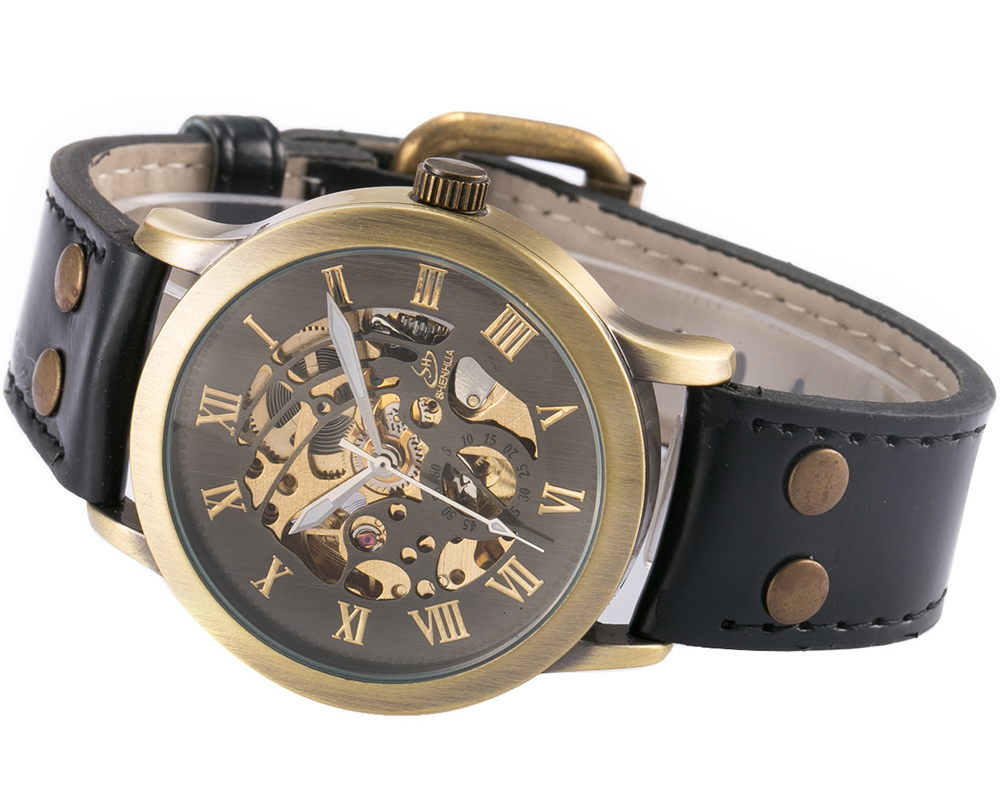 AUTOMATIC SKELETON WATCH MEN-BLACK 1