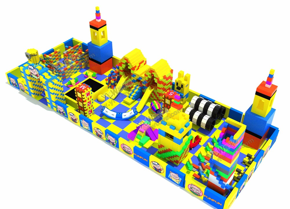 Personnaliser gros enfants bricolage EPP briques construction aire de jeux mobile écologique bébé EPP blocs centre commercial aire de jeux YLW-EPP0330