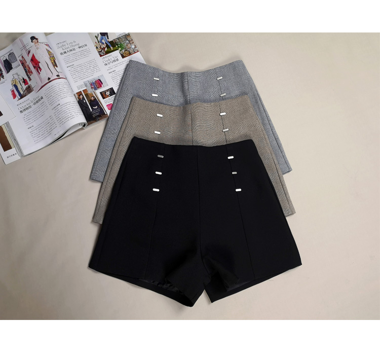 Summer Shorts For Women 2019 High Waist Casual Wide Leg Shorts Loose OL work Wear Solid Shorts 3
