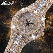 MISSFOX 30mm קטן נשים שעון עמיד הלם עמיד למים יוקרה גבירותיי Ar מתכת שעון צמידי ריינסטון Bu זול סיני שעונים