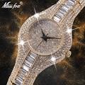 MISSFOX 30mm Kleine Frauen Uhr Stoßfest Wasserdichte Luxus Damen Ar Metall Uhr armbänder Strass Bu Billige Chinesische Uhren