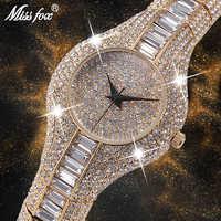 Missfox 30mm pequenas mulheres relógio à prova de choque à prova dshockproof água de luxo senhoras ar metal pulseiras strass bu barato chinês relógios
