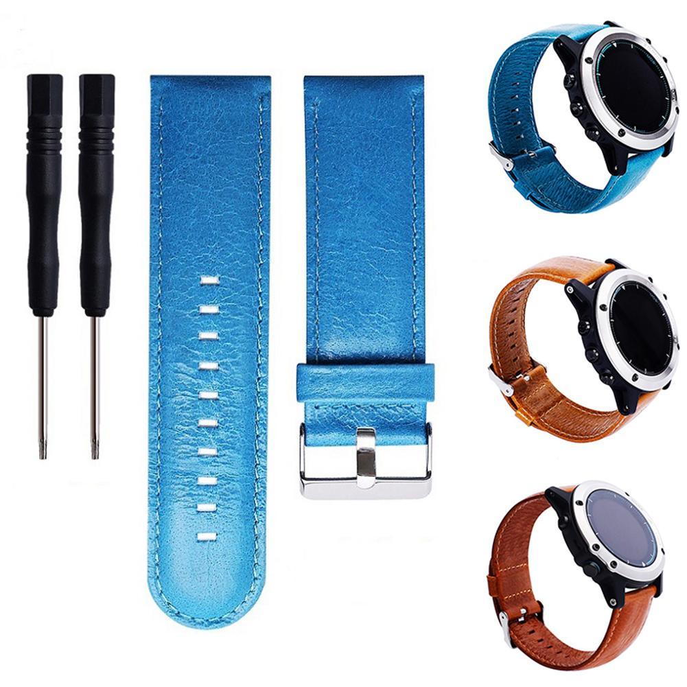Замена натуральная кожа Смарт-часы Группа ремешок для Garmin Fenix D2 HR Quatix