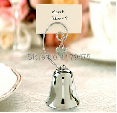 8 X Creative Design High Quality Wedding Favors Jingle Bell Shape Place Card Holders Party Direction