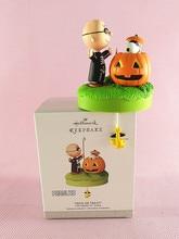 1 pcs Amendoim TRICK OR TREAT figura coleção de brinquedos do Dia Das Bruxas Decoração de natal árvores figura brinquedos Crianças Presente de Aniversário