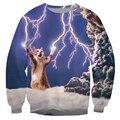 Alisister unissex mulheres/homens de moda camisola cat thundercat/relâmpago trovão crewneck outono inverno harajuku hoodies 3d