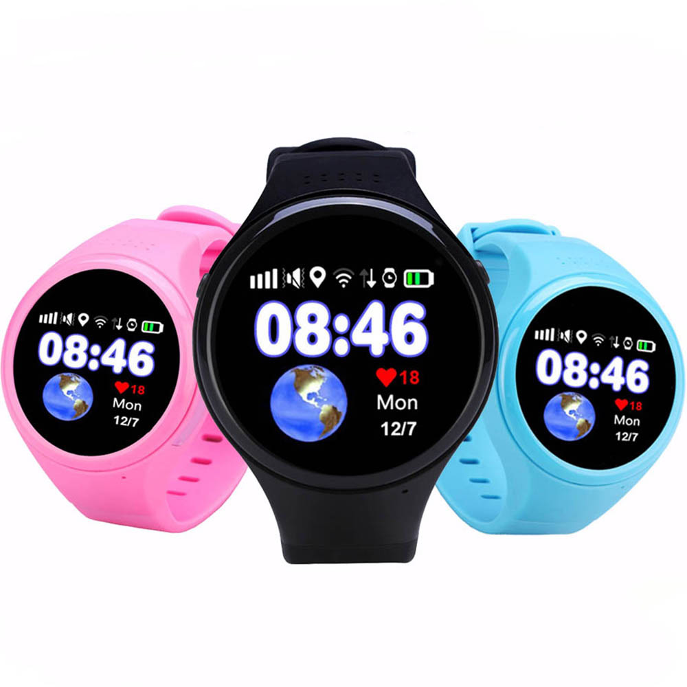 GPS WiFi Kids Smart Watch Phone Baby Watch Round Screen T88 Smart Wristwatch for Old Man Child SOS Pedometer Support SIM Card smart baby watch каркам q60 голубые