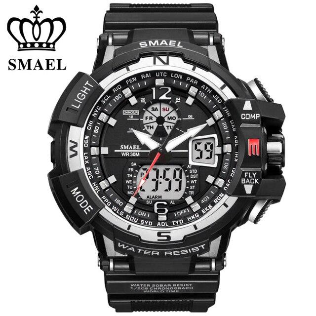 Reloj deportivo Marca SMAEL nuevo reloj militar a prueba de agua para  hombre relojes de pulsera a603f9755d24