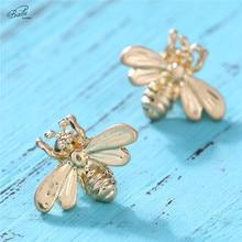 Badu Gold Butterfly Stud Earring Cute Women Studs Charm Jewelry Minimalist Fashion Brincos Pendientes Wholesale