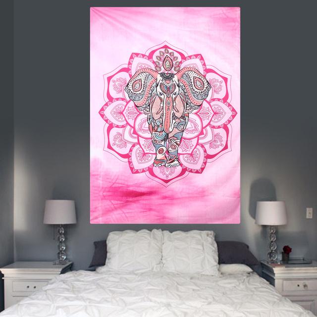 Indian Elephant Mandala Tapestry Hippie Wall Home Decor
