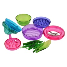 1 Pc Fruit Chopper Salad Machine Multifunctional Fruit Slicer Chopping Device 2409 Set Cooking Tools Kitchen Accessories