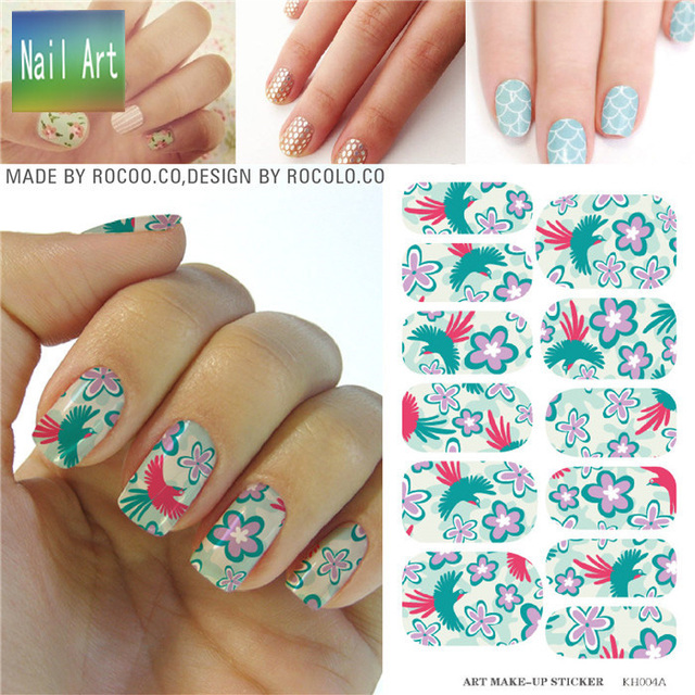 Full Nail Wraps Art Sticker Water Transfer False Nails Foil Decals Manicure Decor Tools Cover Design