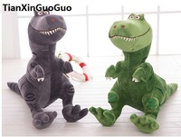 about 45x40cm cartoon dinosaur plush toy green or gray dinosaur soft doll Valentine's Day gift w2540