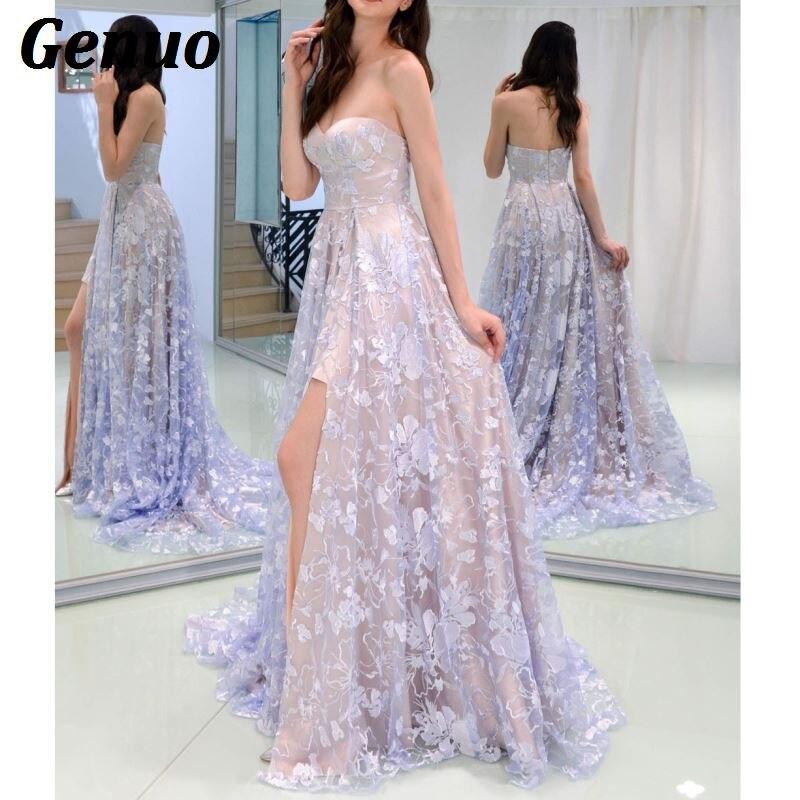 Floral Lace Party Long Dresses 5