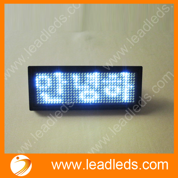 White Scrolling Message LED Name Badge With USB Cable & Software | Programmable Scrolling Marquee LED Name Tag