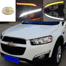 For Chevrolet Captiva 2011 2012 2013 turn Signal Relay Car-styling 12V LED DRL Daytime Running Lights with fog lamp hole купить недорого в Москве