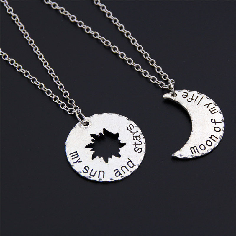 1pc Antique Silver Moon Of My Life Pendant Necklace Game Of Thrones My Sun And Stars Charm Pendant Necklace For Lover
