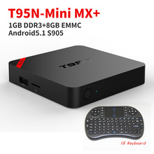 SINMAX S905 T95N Mini MX + Android 5.1 TV Box Quad Core 2.4 GHz Wifi HDMI 2.0 Kodi 16.0 1G 8G Set top Box Streaming Media jugador