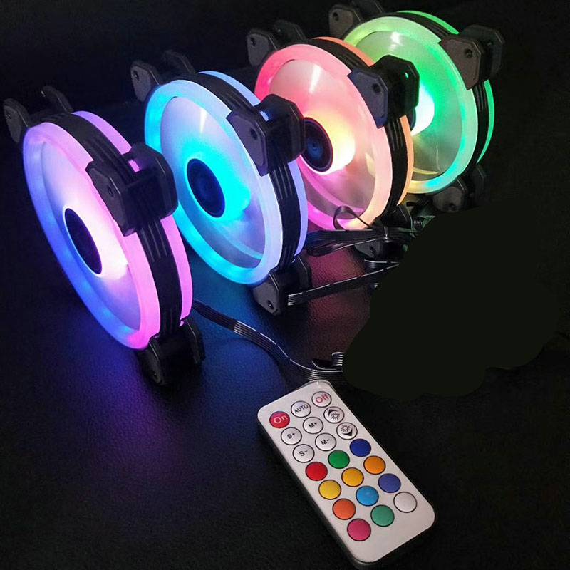 120mm Silent Double Aura RGB PC Cooler Fan for Computer Notebook Gaming  Case XXM8