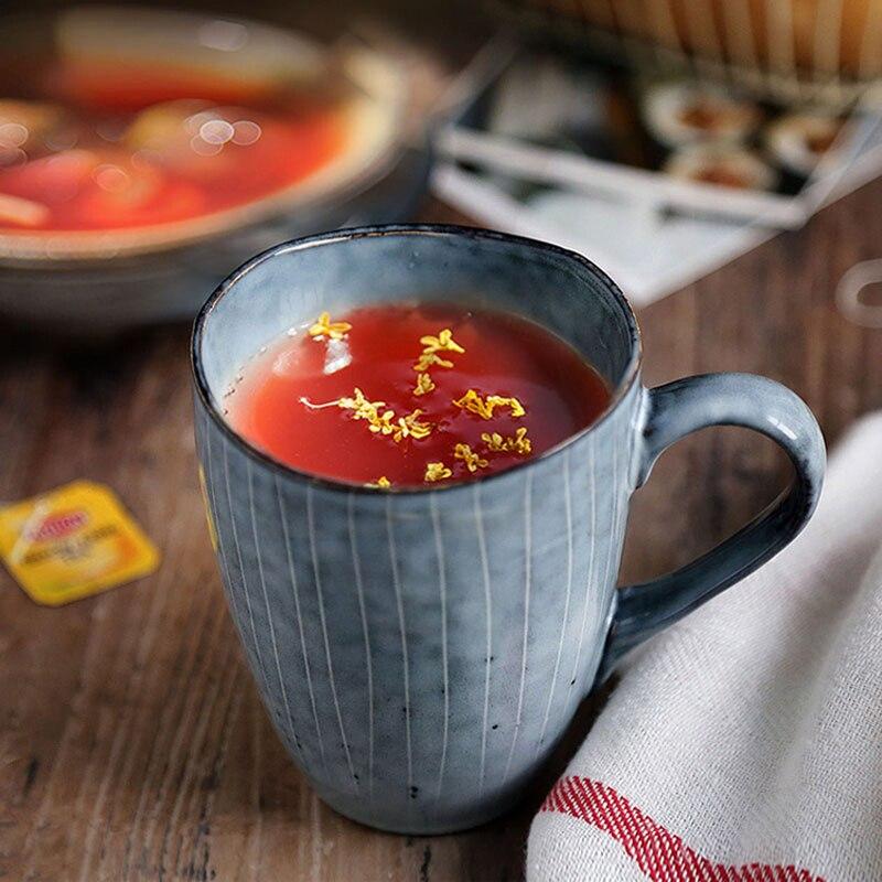 US $13 51 48% OFF|300ml Vintage Coffee Tea Mug Creative Irregular Shape  Ceramic Cup Mug Porcelain Water Milk Drinking Cup Fancy Couple Mug Gifts-in