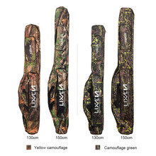 Lixada 130cm 150cm Fishing Rod Bag Case Multifunction Fishing Bags 2 Layer Lure Fishing Tackle Bag