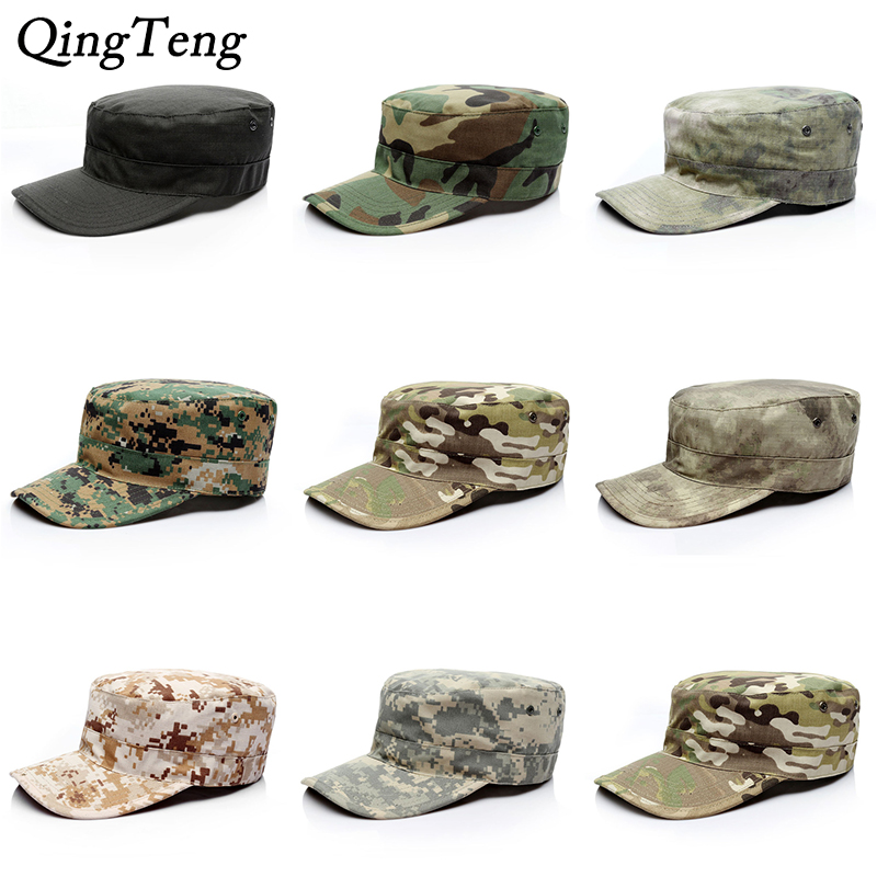 5f22273da US $5.5 45% OFF|Blank Plain Camo Fitted Hats Mens Army Military Camo Caps  Baseball Desert Digital Camouflage Cap Women Soldier Hat-in Men's Military  ...