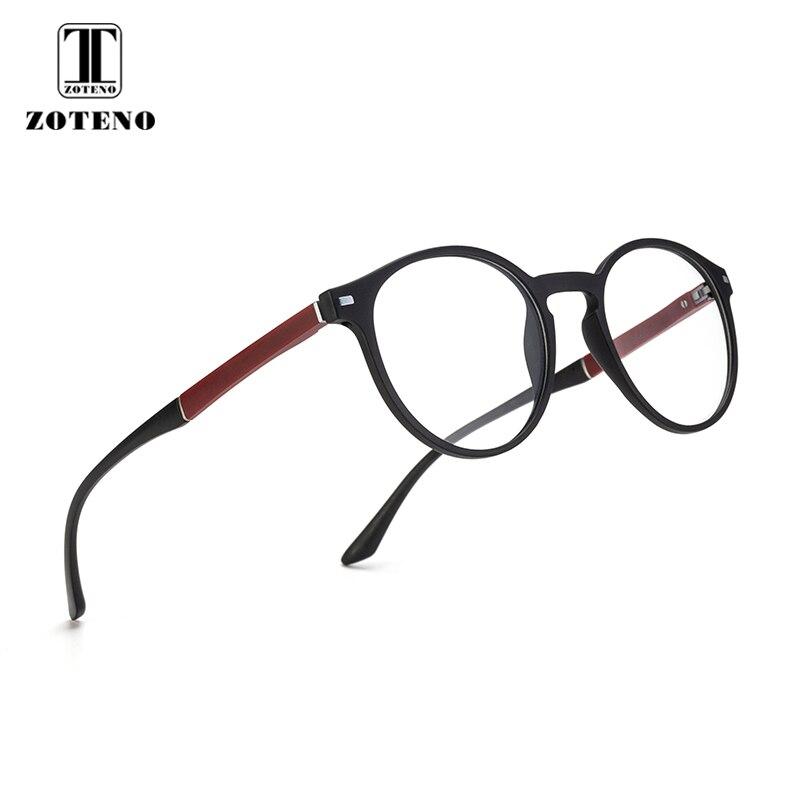 414e89678e Pas cher TR90 femmes ronde lunettes cadre Rivet optique Prescription  ordinateur myopie Transparent lunettes clair hommes