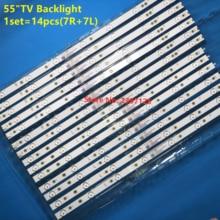 "14 adet LED arka ışık şeridi Ph ilps 55 ""TV 55PFF5701/T3 LB55072 55PUS6501/12 TPT550U2 EQLSH a.G GJ 2K16 550 D714 V4 L TPT550J1"
