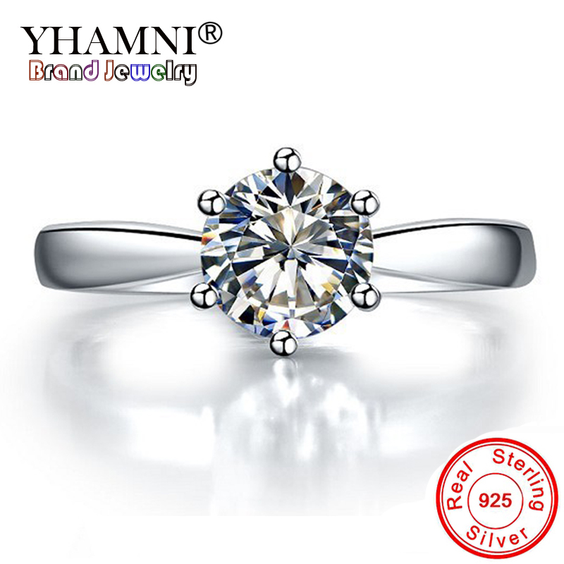 11.11 Lost Money Sale! 100% Original 925 Sterling Silver Ring Luxury Solitaire 1 Carat CZ Diamant Wedding Rings for Women ANR003