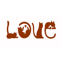YaMinSanNiO Love Cats Dies Metal Cutting Die Scrapbooking for Card Making DIY Embossing Cuts New Craft Letter Formed By Cat