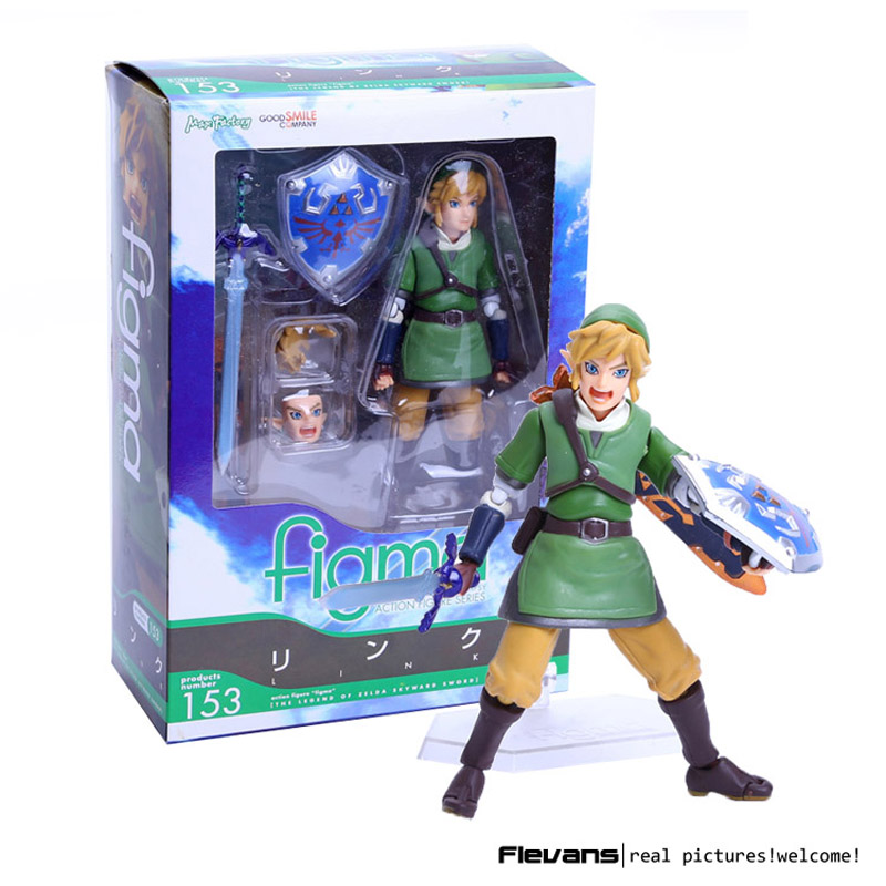 The Legend of Zelda Skyward Sword Link Figma 153 PVC Action Figure Collectible Model Toy 14cm anime the legend of zelda 2 a link between worlds link figma 284 pvc action figure collectible model kids toys doll 10 5cm