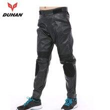 Духан ветрозащитный мотоциклов touring брюки защитный эластичный гонки брюки спорт мотоцикл брюки мужчины искусственная кожа moto брюки