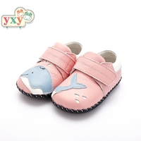 YXY 2019 brand spring genuine pig leather dolphin baby first walkers boys toddler hand made Newborn soft high quality shoes