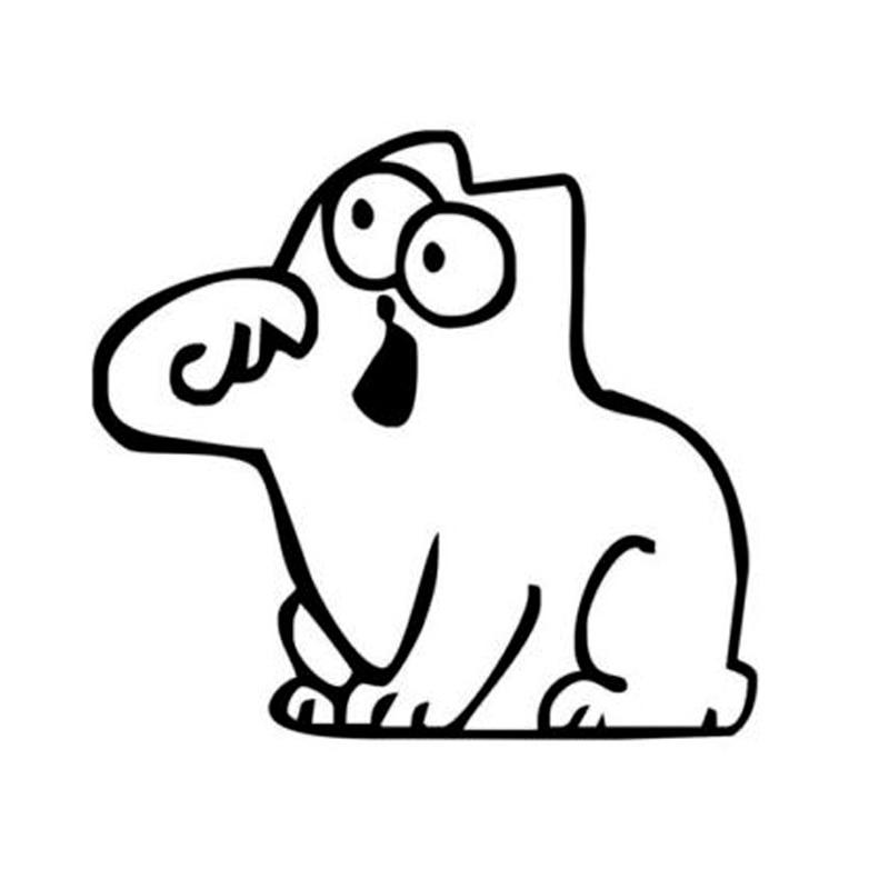 11*12 см забавный Кот Саймона автомобиля стикер Персонализированные мода стайлинга автомобилей декоративные наклейки черный/щепка С6-0291