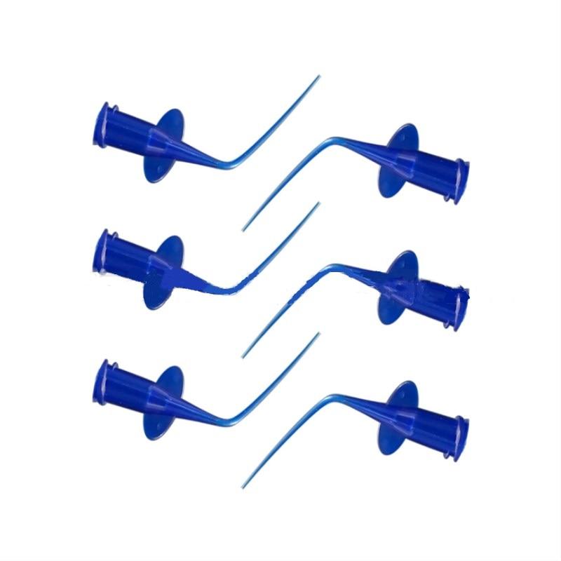 50 Pcs Disposable Irrigation Syringe Rinse Tip Dental Teeth Whitening Flexible Composite Resin Rinse Tip Endo Soft Needle