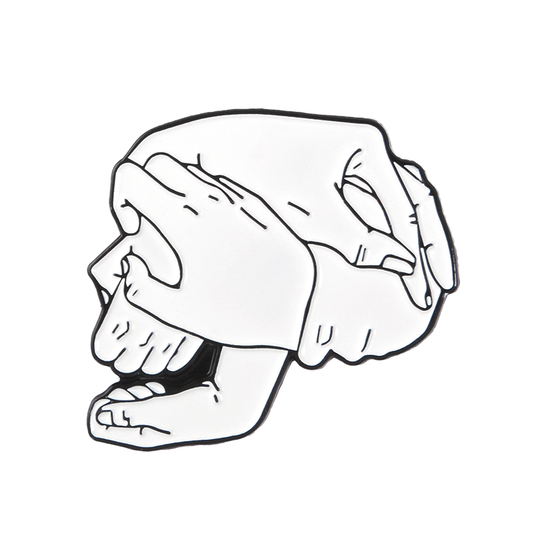 Hand in hand-white